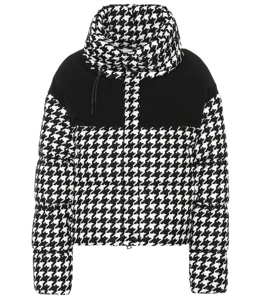 Moncler Nil houndstooth down jacket in black