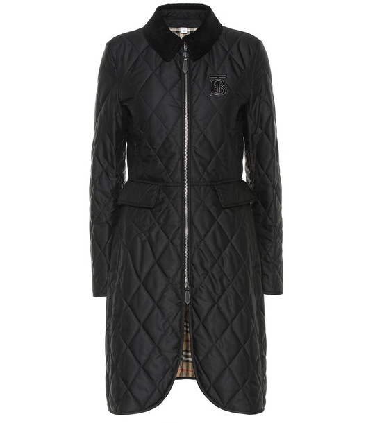 Burberry Ongar quilted coat in black