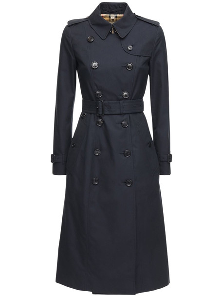 BURBERRY Long Chelsea Heritage Trench Coat in navy
