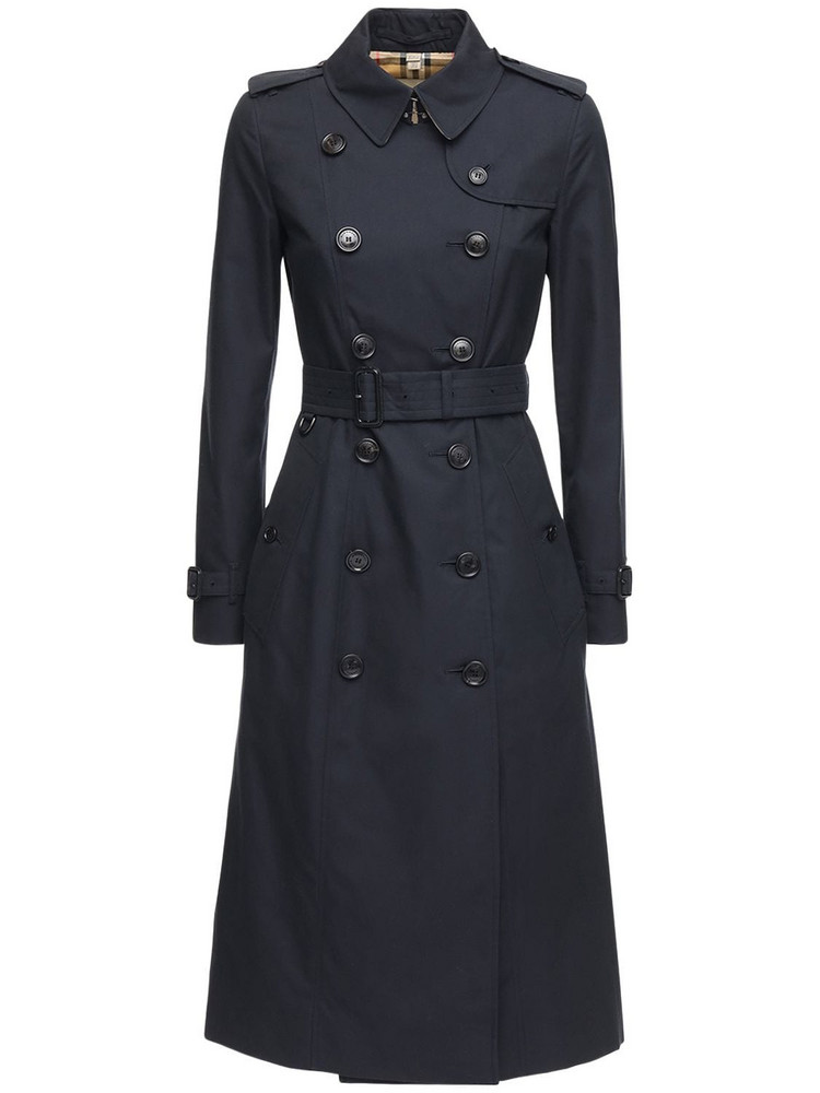 BURBERRY Long Chelsea Heritage Trench Coat in navy