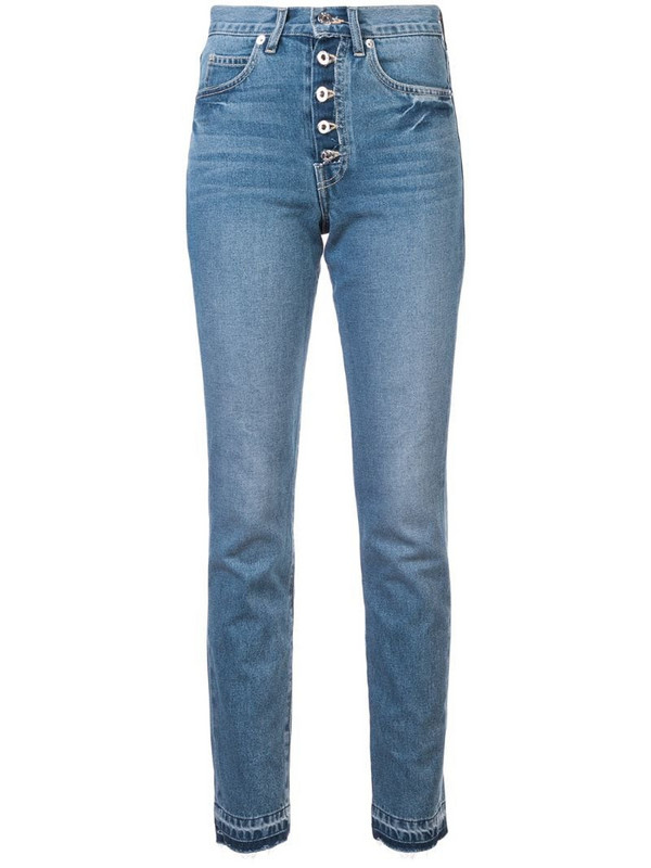 Eve Denim high waisted slim-fit jeans in blue