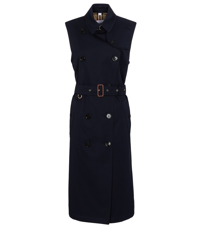 Burberry Cotton trench midi dress in blue