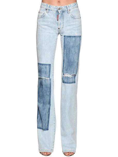 DSQUARED2 Camilla Flared Denim Jeans in blue