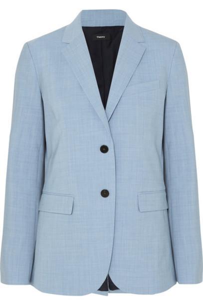 Theory - Classic Stretch-wool Blazer - Light blue