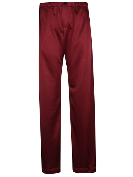 Golden Goose Mid Rise Palazzo Trousers in red