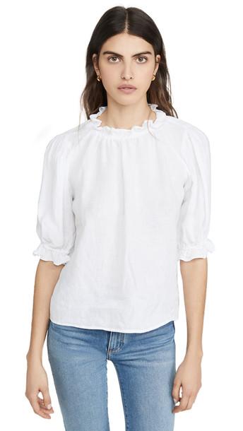 Velvet Rosabel Top in white