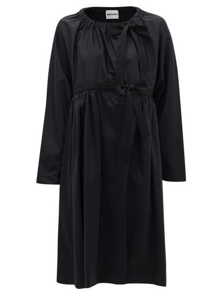 Molly Goddard - Sandy Side-tie Faille Coat - Womens - Black