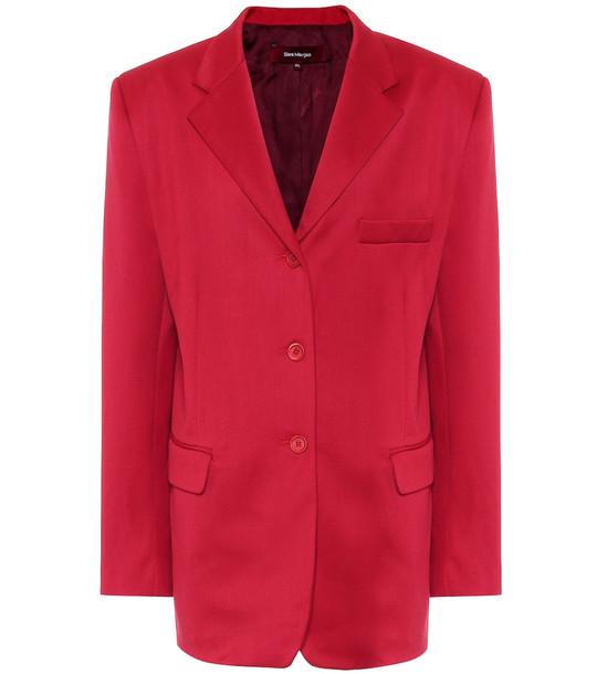 Sies Marjan Wool blazer in red