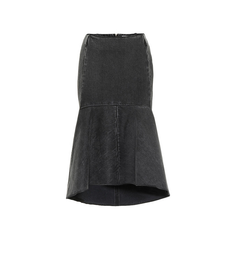 Balenciaga Jean midi skirt in grey