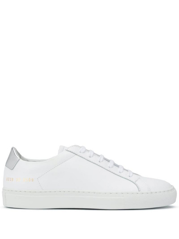 Common Projects lace-up low-top sneakers in white