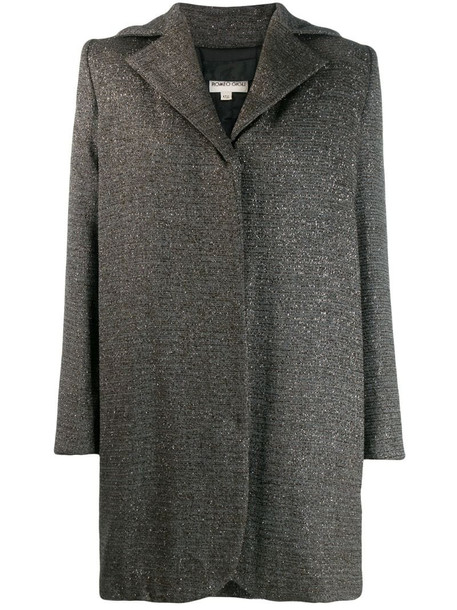 Romeo Gigli Pre-Owned 1990's structured oversized coat in grey