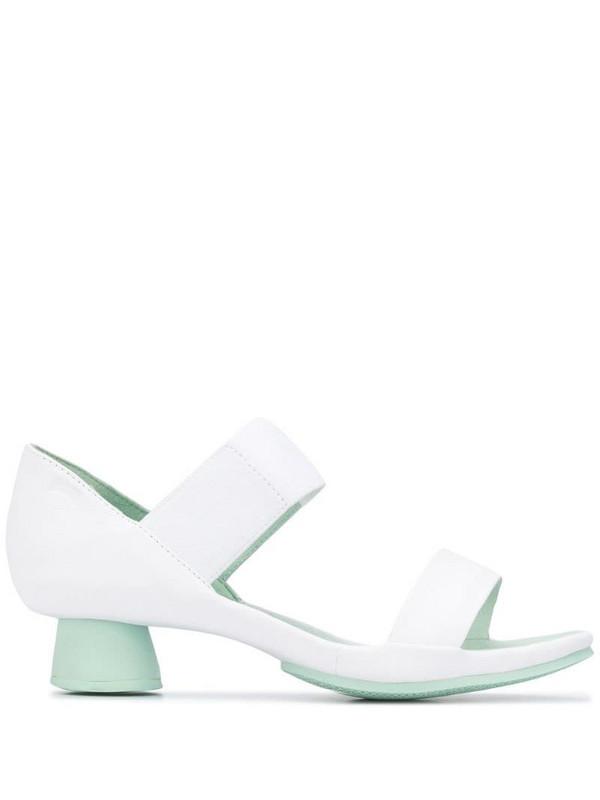 Camper Alright block heel sandals in white