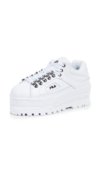 Fila Trailblazer Wedge Sneakers in navy / red / white