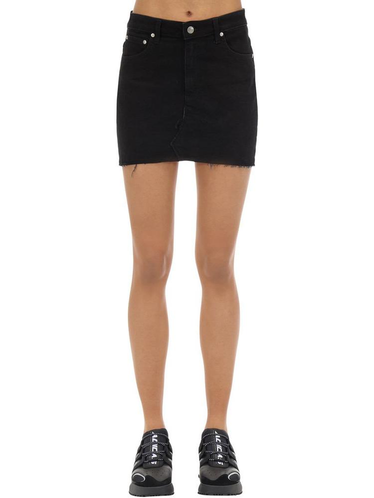 REPRESENT Cotton Blend Denim Skirt in black
