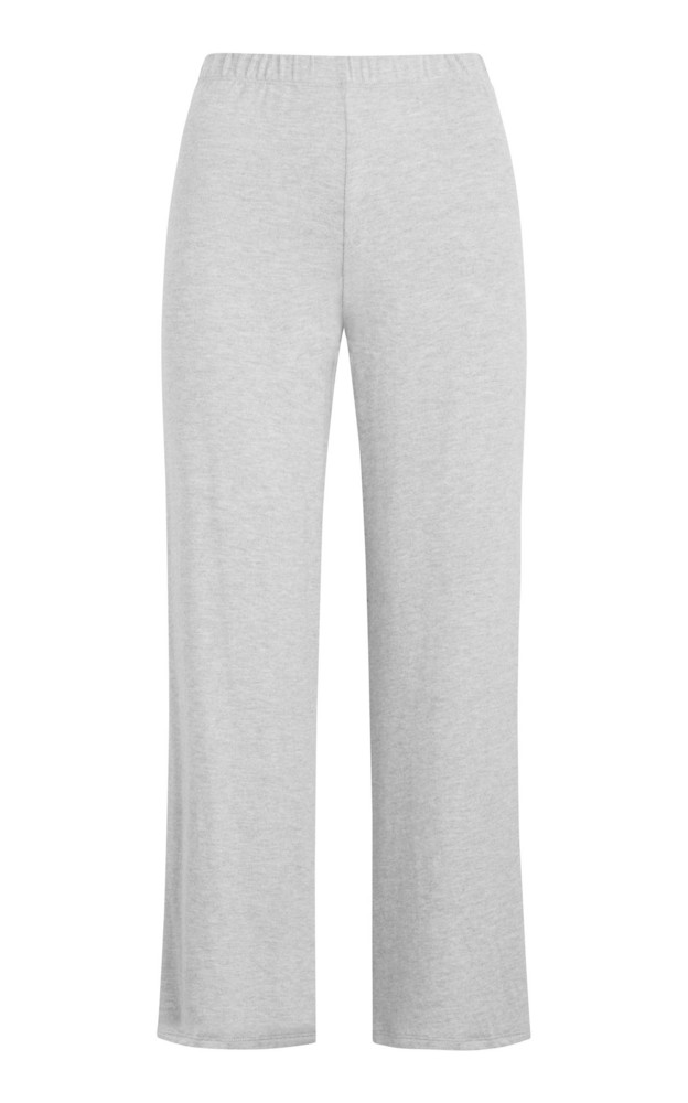 Leset Lori Stretch-Knit Straight-Leg Pants in grey