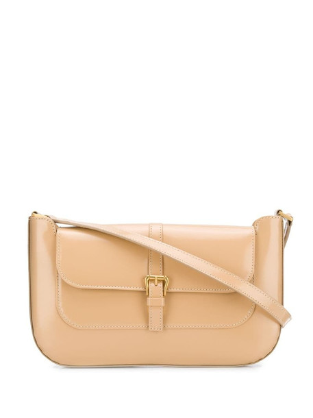 BY FAR Miranda patent leather bag in neutrals