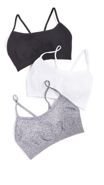 Splits59 Loren Bra 3 Pack in black / grey / white