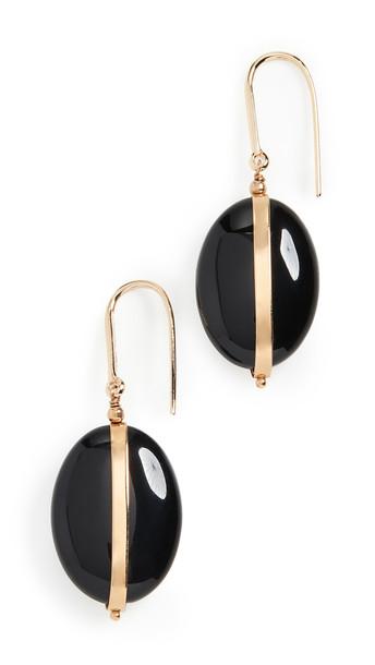 Isabel Marant Stones Earrings in stone / black