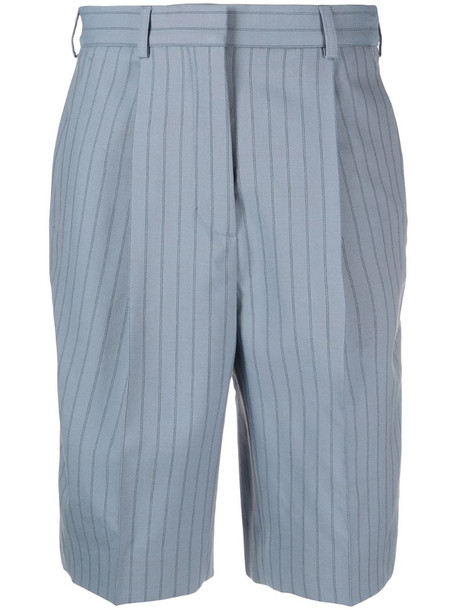 Acne Studios pinstripe tailored shorts in blue