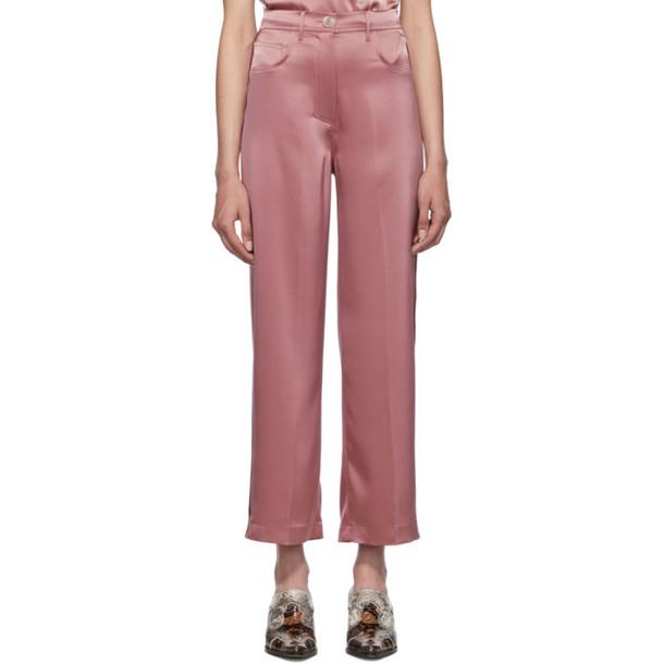 Nanushka Pink Wide-Leg Western Marfa Trousers