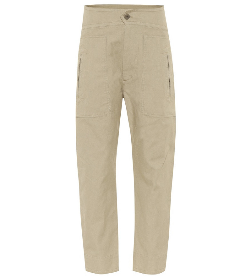 Isabel Marant, Étoile Raluni mid-rise carrot pants in beige