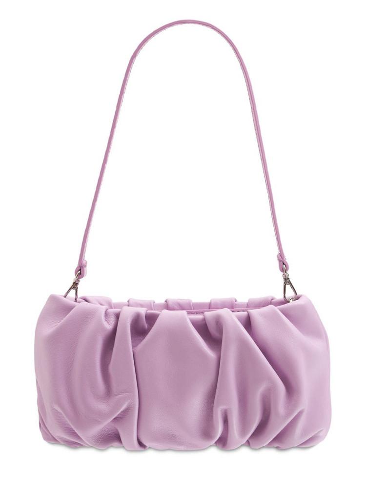 STAUD Bean Leather Shoulder Bag in lavender