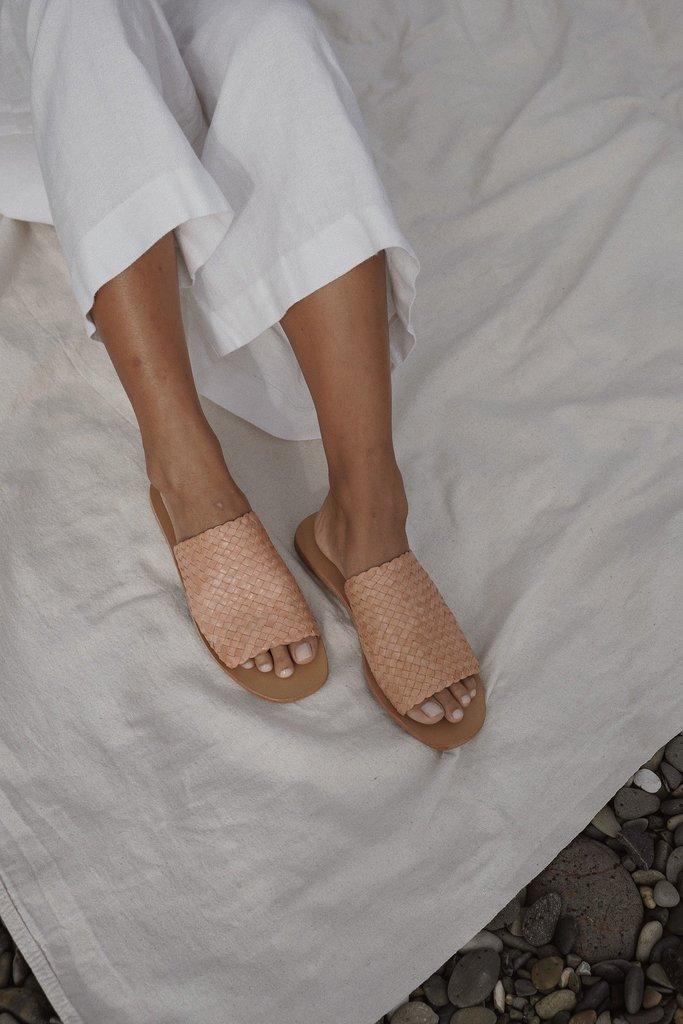 Pia Woven Slide - Nude