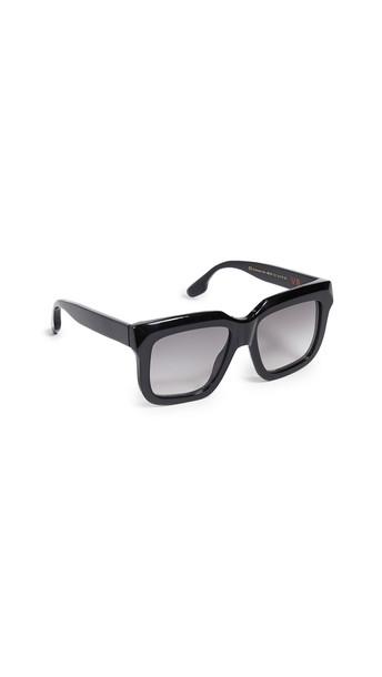 Victoria Beckham Large Bevelled Square Sunglasses in black