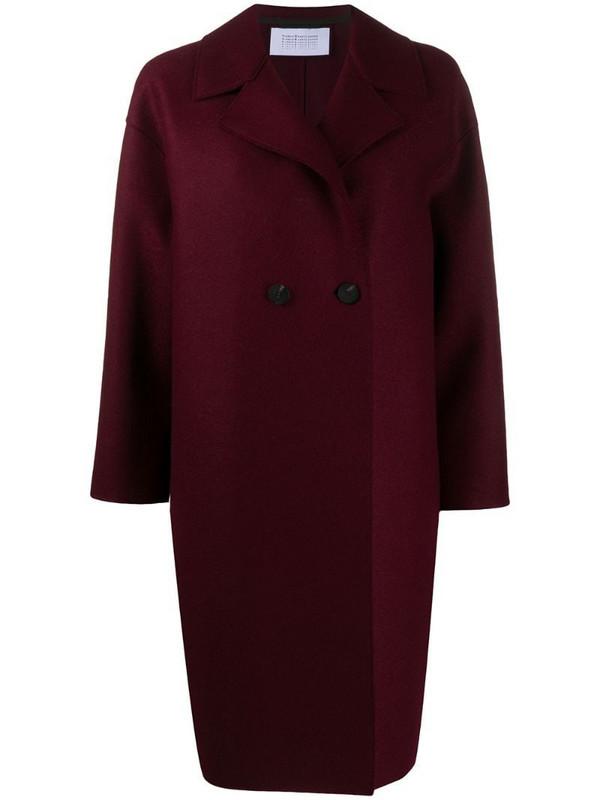 Harris Wharf London long-sleeve coat in purple