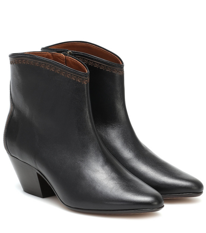 Isabel Marant Dacken leather ankle boots in black