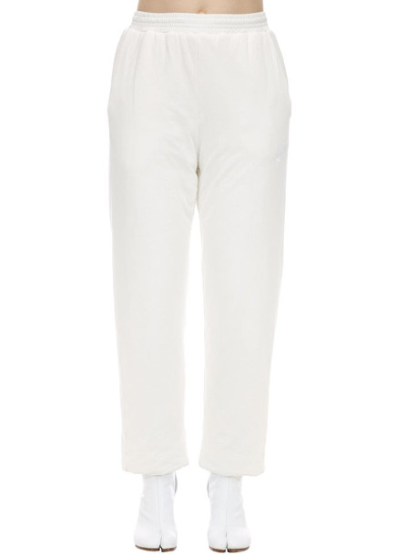 MM6 MAISON MARGIELA Padded Cotton Jersey Pants in white