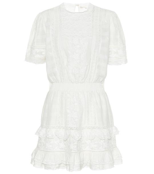 LoveShackFancy Leighton cotton minidress in white