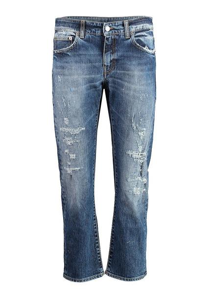 Department 5 Destroyed Cropped Jeans in denim / denim