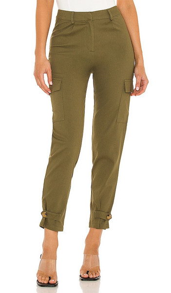 superdown Chloe Cargo Pants in Olive in green