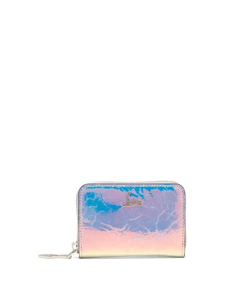 Christian Louboutin - Panettone Iridescent Leather Coin Purse - Womens - Silver Multi