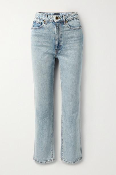 KHAITE - Abigail High-rise Straight-leg Jeans - Blue