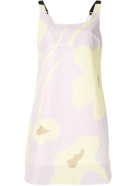 Lee Mathews Aster floral-print dress in pink