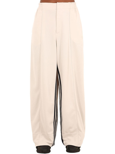 Y-3 3-stripes Wide Leg Techno Pants in white