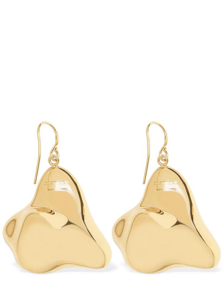 JIL SANDER Air Enamel Earrings in black / gold