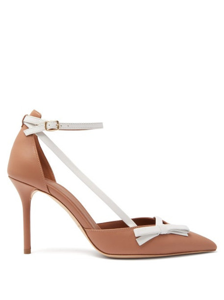 Malone Souliers - Josie Bow-embellished Leather Pumps - Womens - Nude