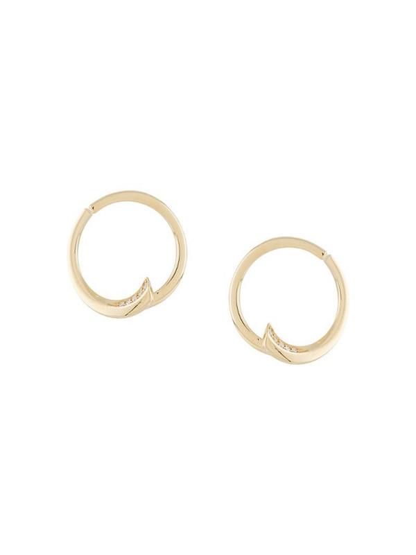 LE STER 18kt yellow gold diamond Pin Wheel hoop earrings