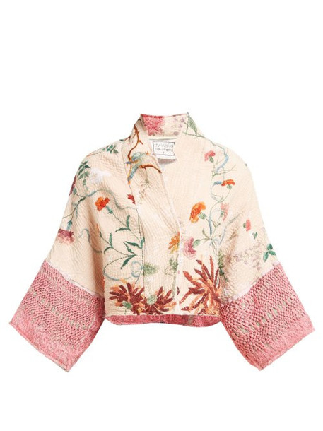 By Walid - Lamia 19th Century Silk Dupion Jacket - Womens - Pink