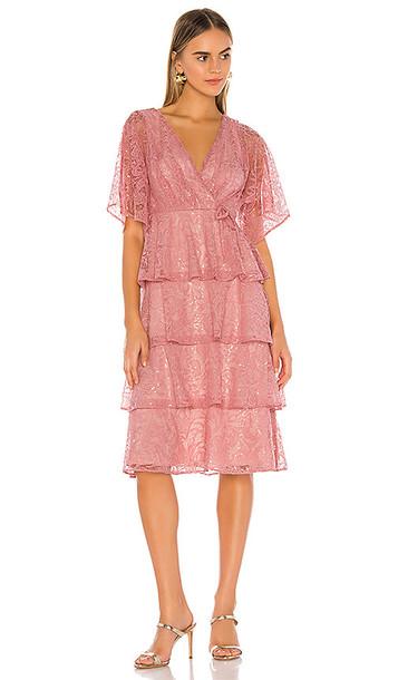 Tularosa Autumn Dress in Pink