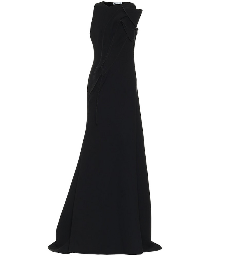 Maticevski Avow crêpe gown in black