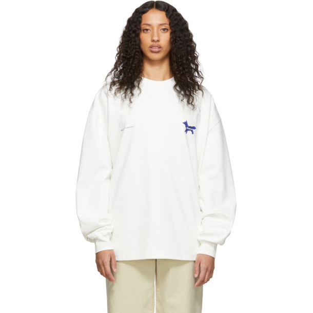 Maison Kitsune White ADER error Edition The Blue Fox Sweatshirt