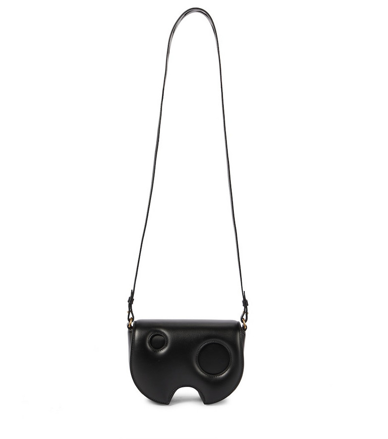 Off-White Burrow Saddle leather crossbody bag in black