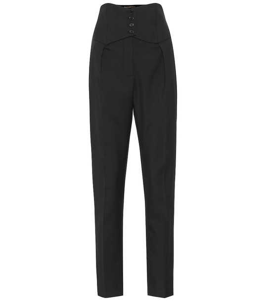 Saint Laurent Wool-twill slim pants in black