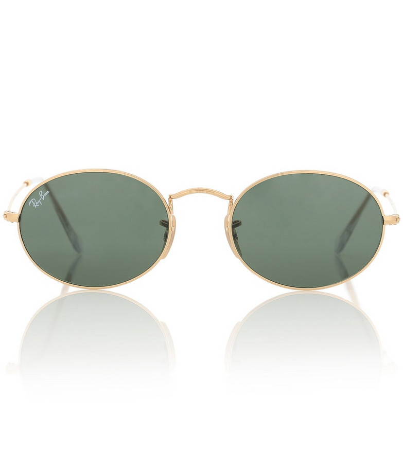 Ray-Ban RB3547N Oval Flat sunglasses in green