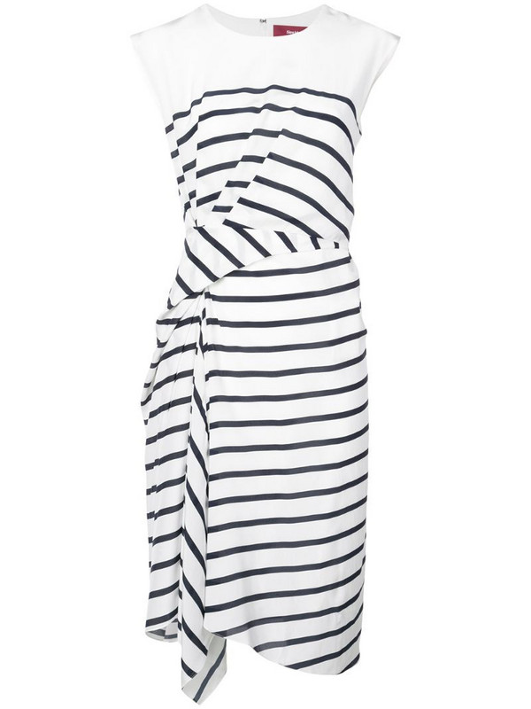 Sies Marjan striped midi dress in white