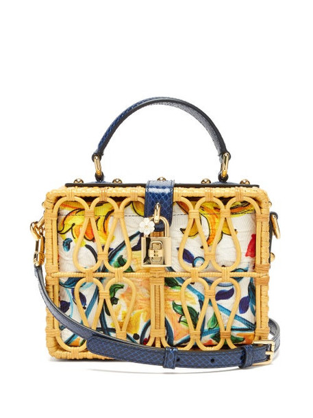 Dolce & Gabbana - Dolce Box Rattan Box Bag - Womens - Multi